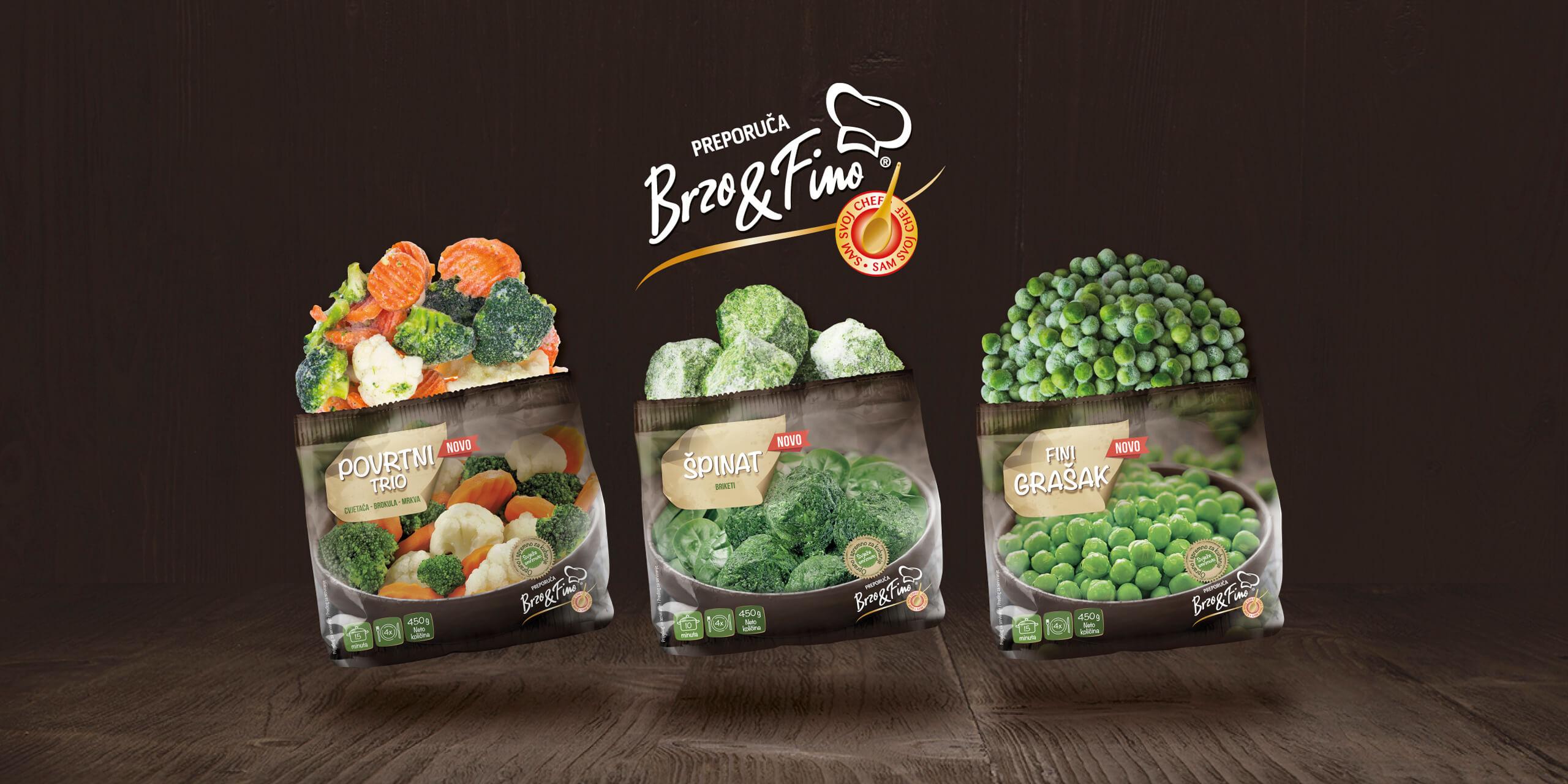 Brzo&Fino frozen vegetables